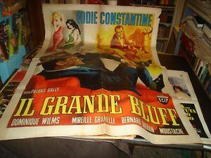 IL GRANDE BLUFF manifesto 2F originale 1957 EDDIE CONSTANTINE