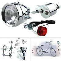 Generatore Dinamo moto per bici LED Testa fanale posteriore Lampada 12V 6W nuovo