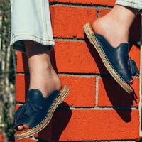 Summer Women's Slipper Sandals Flat Sandals  Flops Mules PU Leather Shoes