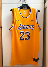 Los Angeles Lakers Lebron James Talla 54 Baloncesto Nike deseo Jersey Camisa de la NBA