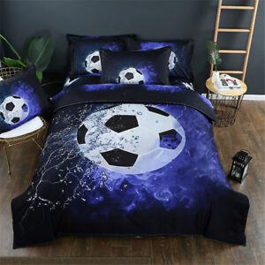 Football Kids Bedding Duvet Cover Set Twin Queen Sizes Pillowcase Boys Sport New
