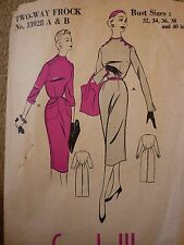 VINTAGE 1950'S DRESS WITH A SLIM SKIRT SEWING DRESSMAKING PATTERN