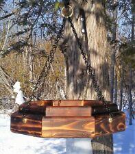 Handmade hanging octagon platform cedar wood bird/squirrel feeder, TBNUP #1SB