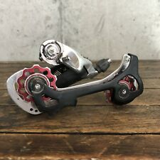 Vintage Shimano Deore XT RD-M739 Rear Derailleur Long Cage Bullseye Red L3