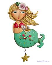 """Adorable Blonde """"Shelley Mermaid"""" Designer Wall Clock by Allen Designs"""