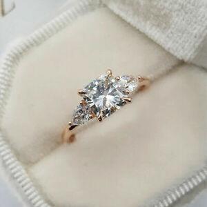 Fashion 925 Silver Rings Jewelry Women White Sapphire Wedding Ring Size 6-10