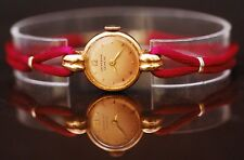 Vintage Universal Geneve 18K Gold Women's Watch Rose Color Dial Hand Winding