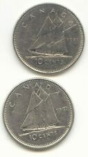 Canada 1981 and 1982 Canadian Dimes Ten Cents 10c (coin lot D)