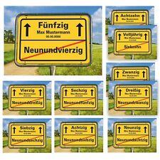 Ortsschild Geburtstag 18 20 30 40 50 60 70 Volljährig Bild Geschenk Landschaft