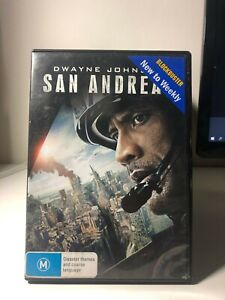 DVD EX-RENTAL - San Andreas - Dwayne Johnson - FREE POST #P5