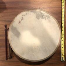 Roosebeck Irish Tunable Bodhran Drum - Wood - Black + 2 Sticks/ Tippers