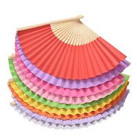 Ventilador mano bambú Plegable Abanico de Mano Fiesta Boda Danza Fan nuFWS