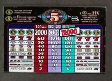 IGT S+ Plus Slant Top Slot Machine Glass 5 FIVE TIMES PAY 3 Coin Max Play