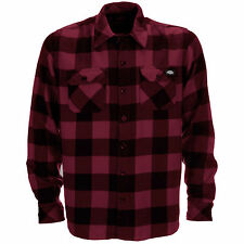 Dickies Maroon Sacramento Long Sleeved Shirt M