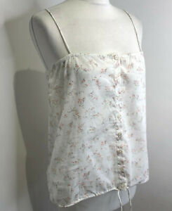 BNWT American Vintage Lincoln Liberty floral cotton cami vest top L NEW