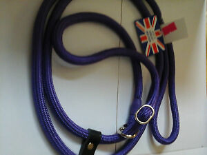 KJK DOUBLE STOP SLIP LEAD,(FIGURE OF 8)  BRAID,WITH STRONG LEATHER STOP,2MTS