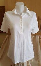 White FALKE Polo Style Viscose Top Size L
