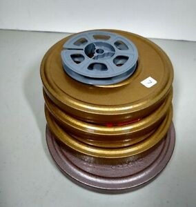 5 LOT VTG 1970's Super 8 Film Home Movies (4) with Metal Case and 1 Kodak Reel