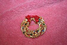 Vintage Art © Christmas Reef Gold-tone Metal Brooch Pin