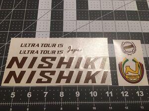 Nishiki Ultra Tour 15 Bicycle Decal Set Of 7 Brown Tones