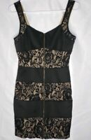 Women's Papaya Black Lace and Lace Stretch Dress. Size L