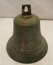 Vintage Medium Brass Ship's Bell 20cm Japanese Nautical Maritime #31
