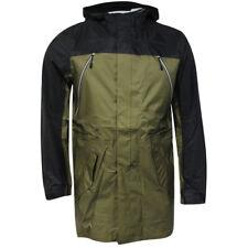 Nike Sports Wear Full Zip Up Buttoned Mens Black Green Jacket Coat 459626 222 P4