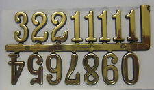 Adhesive Gold Index Numbers Numerals 20mm BNIP For Clock Making