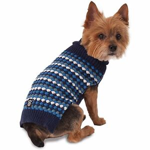 Popper's Popcorn Sweater for Dogs by Petrageous BLUE MULTI NWT LARGE