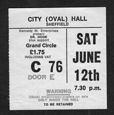 1976 Dr. Hook Concert Ticket Stub Sheffield UK Cover of the Rolling Stone