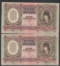 Ungarn 2 x 1000 Pengö 1943