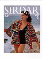 LAMINATED VINTAGE  Crochet Pattern Ladies  Cardigan/jacket  DK