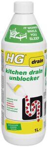 HG Kitchen Drain Unblocker 1L - Effective And Natural Sink Unblocker