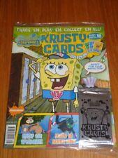 KRUSTY CARDS COLLECTION #16 SPONGEBOB SQUAREPANTS UK MAGAZINE WITH CARDS =