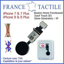 Bouton Home Noir Fonction Retour Accueil Siri pour iPhone 7 7 Plus 8 8 Plus - YF