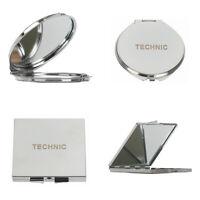 Technic Metal Compact Make Up Handbag Mirror Magnifying Dual Sided
