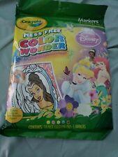 Crayola Mess Free Color Wonder Disney Princess Cinderella 15 Pages & 4 Markers
