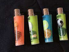 Clipper Lighters x 4 Sport Designs Golf Football Tennis Basketball