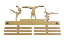 Gymnastics Gymnast Sport - Wooden Medal Holder Hanger Display