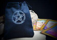 PENTACLE Black  VELVET TAROT BAG wicca pagan Witchcraft