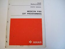 Gould Ml-P190-Use User'S Manual P190 Crt Programming - Used - Free Shipping