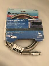 New listing Burst Protect 3/8 in. x 3/8 in. x 72 in. Dishwasher Connector 6 Ft Length