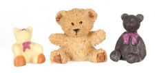 Three Small Bears, Dolls House Miniatures, Miniature Teddy Bears