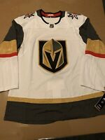 Adidas NHL Las Vegas Golden Knights White Away Hockey Jersey Men's 46 S $180.00