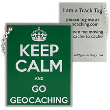 Keep Calm And Go Geocaching Track Tag (Travel Bug Geocoin)