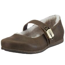 Scholl Aisha Chaussures Femme 41 Ballerines Fourrées Shearling Lambswool UK7 New
