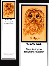 Tawny Owl Bird Laminated Bookmark - Print from Original Animal Art