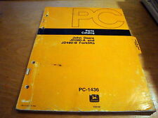 John Deere Jd480A Jd480B Forklift Parts Manual Catalog List Book Jd Pc1436