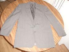 Mens Hickey Freeman Collection Diplomat Blazer, Gray Windowpane, Size 43 Lng