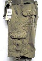 M Society Basic Esentials  Men's Chief  Drawstring Legs  Belted Cargo Shorts 803